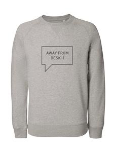 Herren Sweatshirt aus Bio-Baumwolle 'Away from desk' - University of Soul