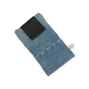 Handyhülle div. , upcycling, Stoff Jeans, 14,7x8,4 cm (H1) - diejuju