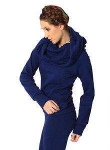 LASALINA Bio Pullover - mit großem Kragen! Blau oder Weinrot - LASALINA