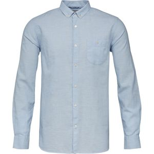 Hemd - Cotton/Linen Shirt - Skyway - KnowledgeCotton Apparel