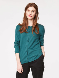 Morgan Wolle Cardigan - emerald - Thought