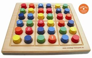Brettspiel SUDOKU color midi - intellego holzspiele