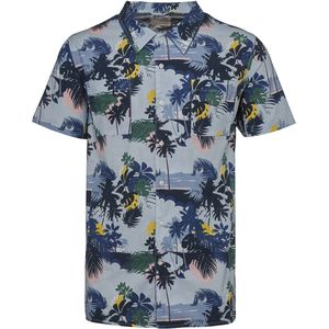 short sleeve shirt Palm sea print - Skyway - KnowledgeCotton Apparel