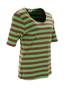 """Green Cotton"" Streifen-T-Shirt - Green Cotton"