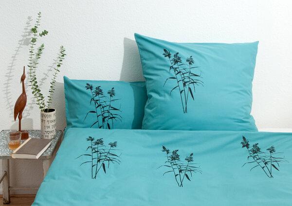 hirschkind handbedruckte bio bettw sche 39 schilf 39 in. Black Bedroom Furniture Sets. Home Design Ideas