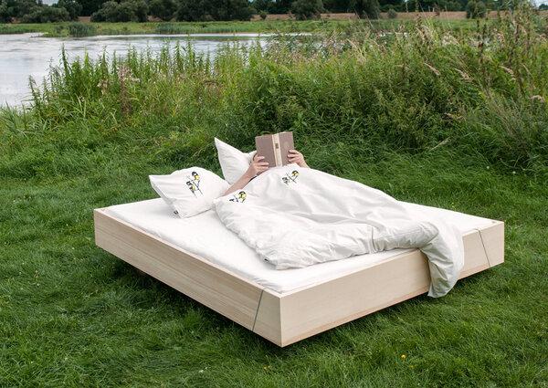 hirschkind handbedruckte bio bettw sche 39 kohlmeisen. Black Bedroom Furniture Sets. Home Design Ideas