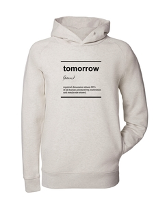 Herren Hoodie aus Bio-Baumwolle 'Tomorrow' - University of Soul