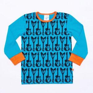 Langarm T-shirt 'Guitars' aus 95% Bio-Baumwolle und 5% Elasthan (GOTS) - Cheeky Apple