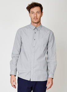 Jude Stripe Organic Cotton Shirt - Thought