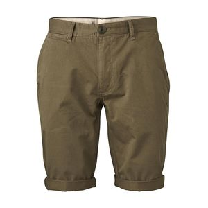 Stoffhose - Twisted Twill Shorts - Burned Olive - KnowledgeCotton Apparel