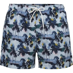Badehose - Swim Shorts Palm Print - Skyway - KnowledgeCotton Apparel