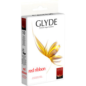 Ultra Red Ribbon vegane Kondome - Glyde Health