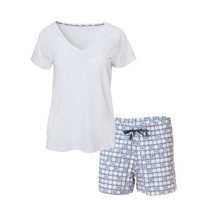Pyjama - weiß/blau - People Wear Organic