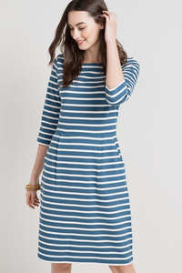 Stay Sail Dress Breton Cadet Ecru - Seasalt Cornwall