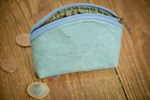 Portemonnaie, Geldbörse aus laminierten Blättern in Besch - By Copala
