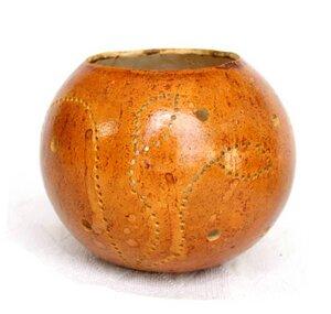 Kalebasse Teelicht, braun - Africa Design