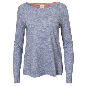 Langarmshirt - blau meliert - People Wear Organic