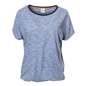 T-Shirt -  blau meliert - People Wear Organic