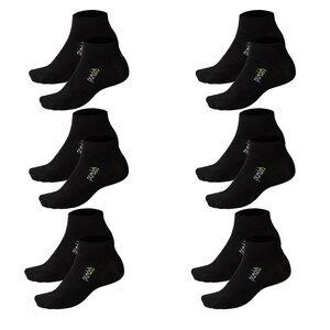 6er Packung Bambus Sneaker-Socken Unisex für Sport & Freizeit - pandoo
