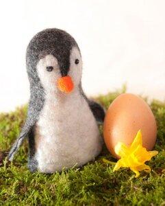 Pinguin als Filz-Eierwärmer  - short'n'pietz
