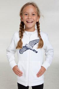 """Bio-Kinder-Zip-Hoodie """"Sperber"""" - Peaces.bio - Neutral® - handbedruckt"""