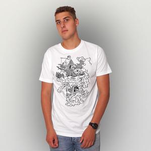 'Vogelfrei' Männer T-Shirt FAIRWEAR ORGANIC - shop handgedruckt