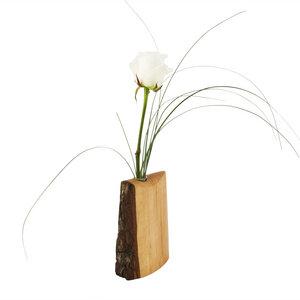 Holzvase mit Rinde, klein - werk|inklusivo