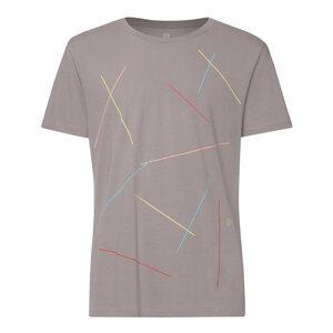 Mikado T-Shirt Herren hellgrau Bio Fair - THOKKTHOKK