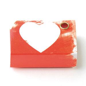 Freude schenken: Kerzengruß 'Herz' - Loony-Design