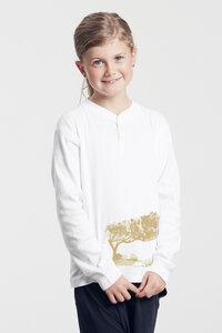 Bio-Kinder-Langarmshirt Korsikatree  - Peaces.bio - Neutral® - handbedruckt