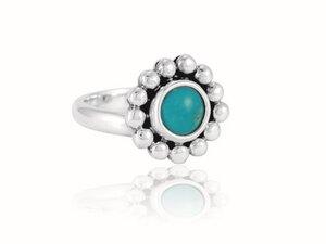 """Ring """"Florecita"""" Turquesa - pakilia"""