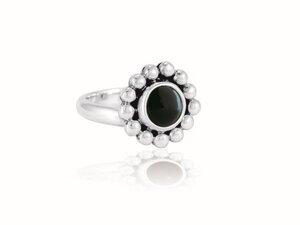 "Ring ""Florecita"" Obsidiana - pakilia"