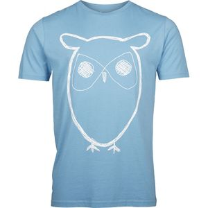 Single Jersey With Owl Print - Niagara - KnowledgeCotton Apparel