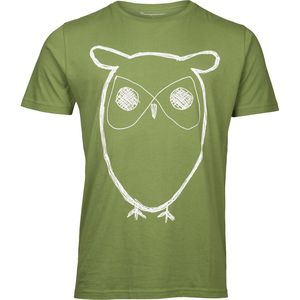Single Jersey With Owl Print - Kale - KnowledgeCotton Apparel