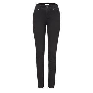 Womens High Rise Slim Jeans Black One Wash - goodsociety