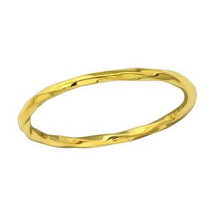 Schmaler Ring - verdreht - aus 925er Sterling Silber gold - LUXAA