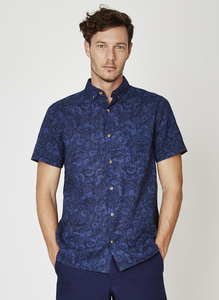 Engravers Print Hemp Shirt - Thought