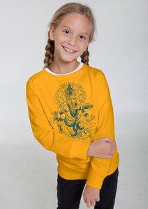 Bio-Kindersweatshirt 'Ganesha' - Peaces.bio - Neutral® - handbedruckt