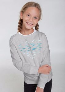 Bio-Kindersweatshirt 'Fishheart' - Peaces.bio - Neutral® - handbedruckt