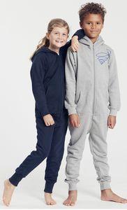 Bio-Kinder-Jumpsuit 'Schwungkreisel' - Peaces.bio - Neutral® - handbedruckt