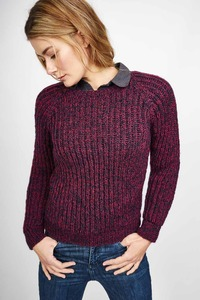 Giselle Pure Wool Ribbed Jumper - bibico