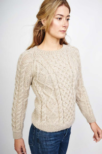 Roxie Natural Aran Jumper - bibico