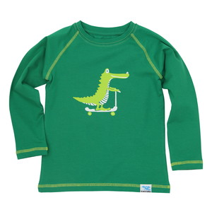 IceDrake Kinder Langarm-Shirt Krokodil (grün) - IceDrake