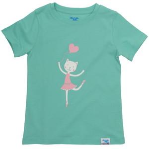IceDrake Kinder T-Shirt Katze (mintgrün) - IceDrake