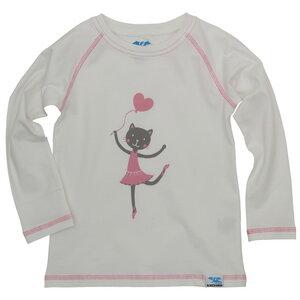 Bio Langarm-Shirt Katze (weiß) für Kinder und Baby - IceDrake