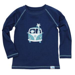 IceDrake Kinder Langarm-Shirt Affe, Giraffe (dunkelblau) - IceDrake