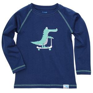 IceDrake Kinder Langarm-Shirt Krokodil (dunkelblau) - IceDrake