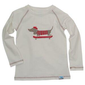 IceDrake Kinder Langarm-Shirt Dackel (weiß) - IceDrake