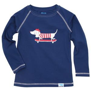 IceDrake Kinder Langarm-Shirt Dackel (dunkelblau) - IceDrake