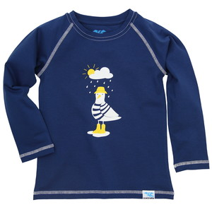 IceDrake Kinder Langarm-Shirt Möwe (dunkelblau) - IceDrake